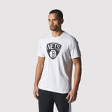 adidas Brooklyn Nets Fan Wear T Shirt - Grey - front