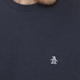 Penguin Pin Point Embroidery T-Shirt - Navy
