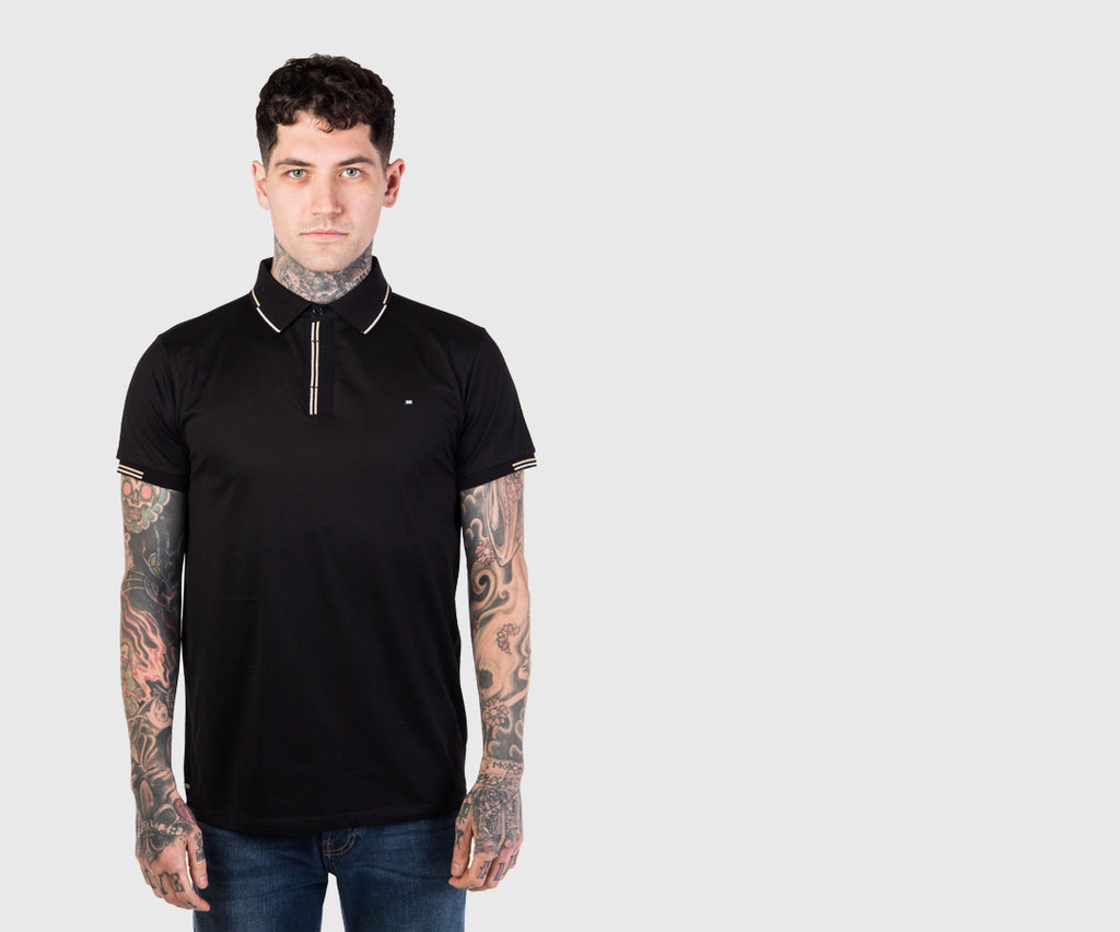 Weekend Offender Cage Polo Shirt - Black