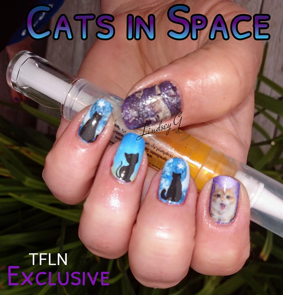 Cats in Space - A TFLNails Exclusive!