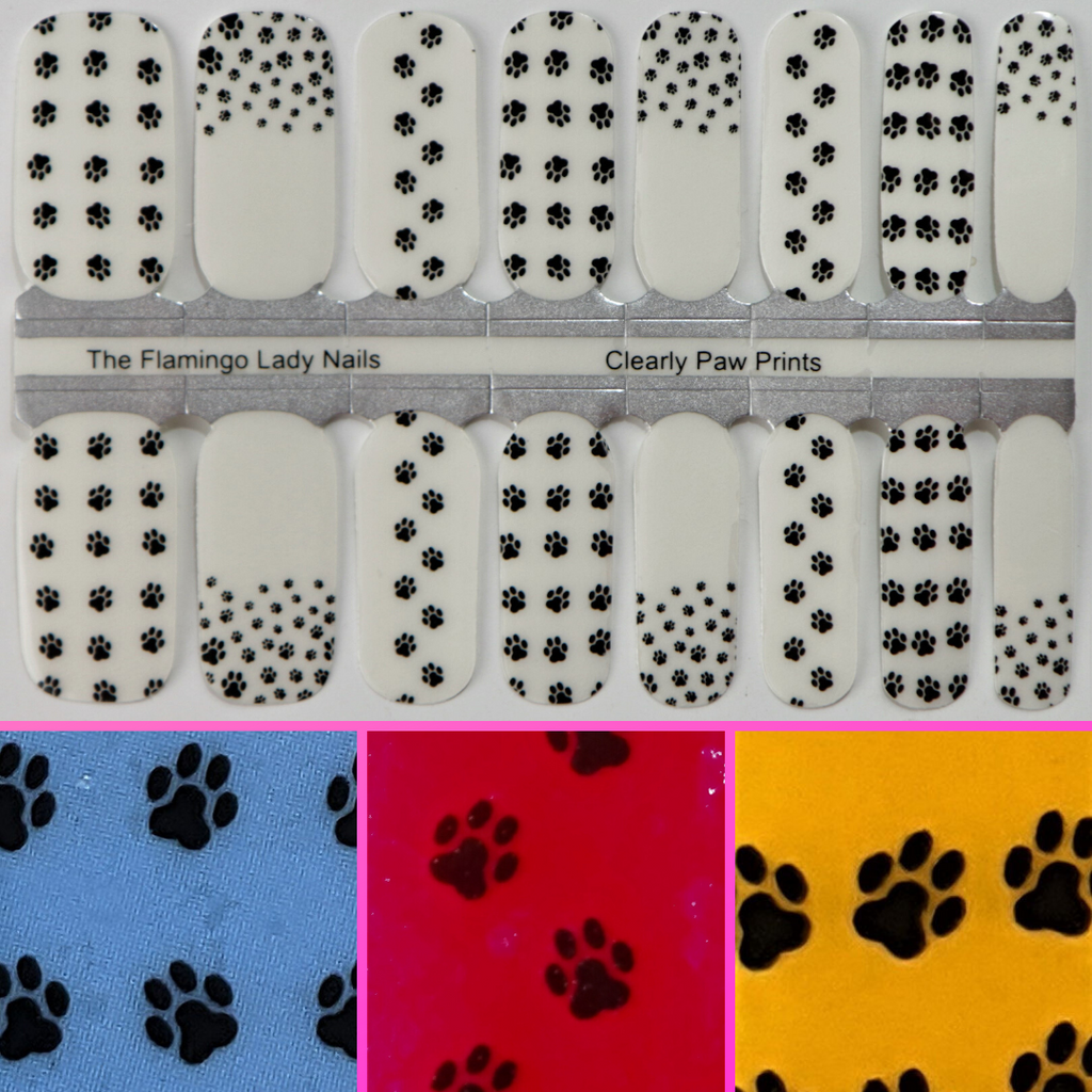 Clearly Paw Prints - A TFLNails Exclusive!
