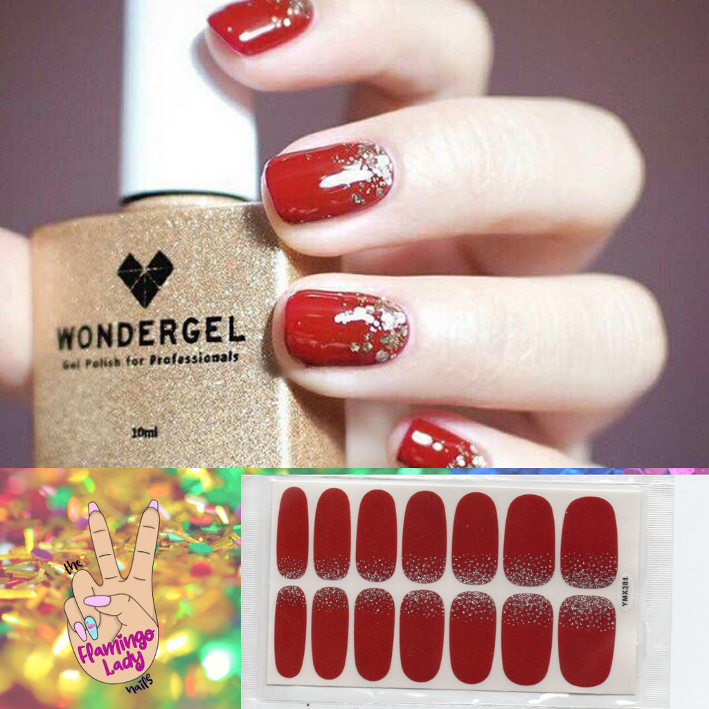 Fun Glitter on Red