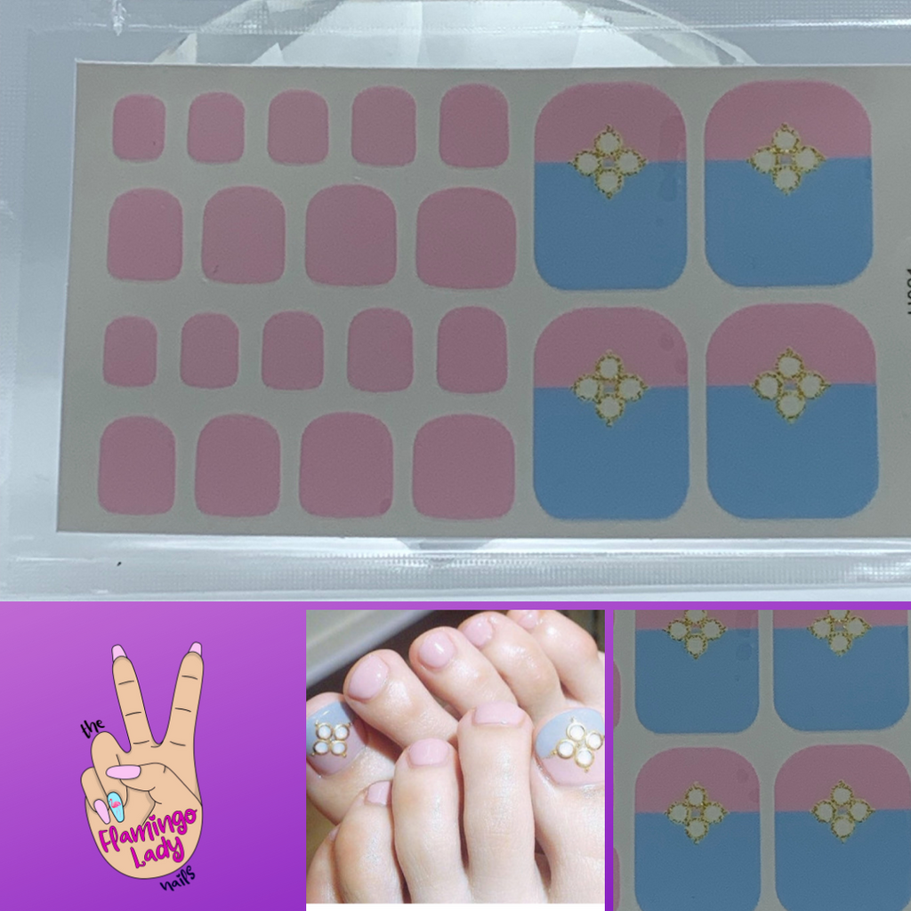 Fun Toes Cotton Candy Jewel - The Flamingo Lady Nails