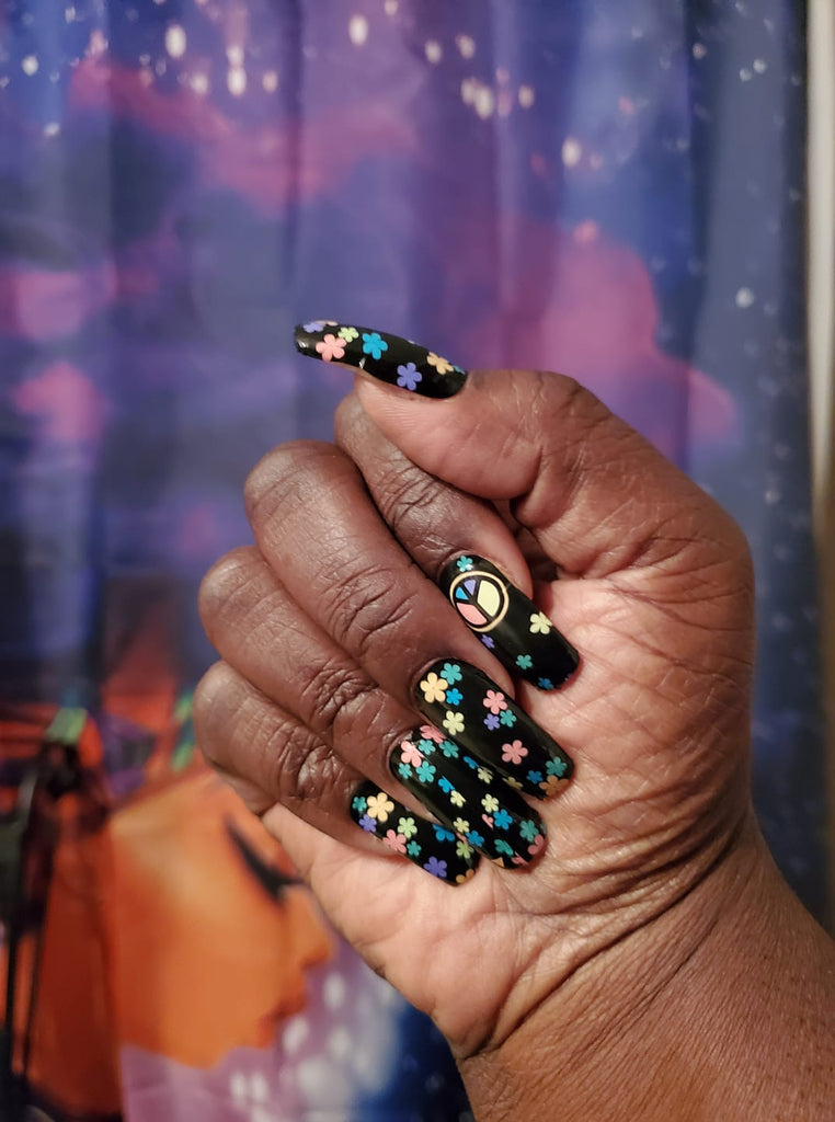 Flower Child a TFLNails Exclusive - The Flamingo Lady Nails