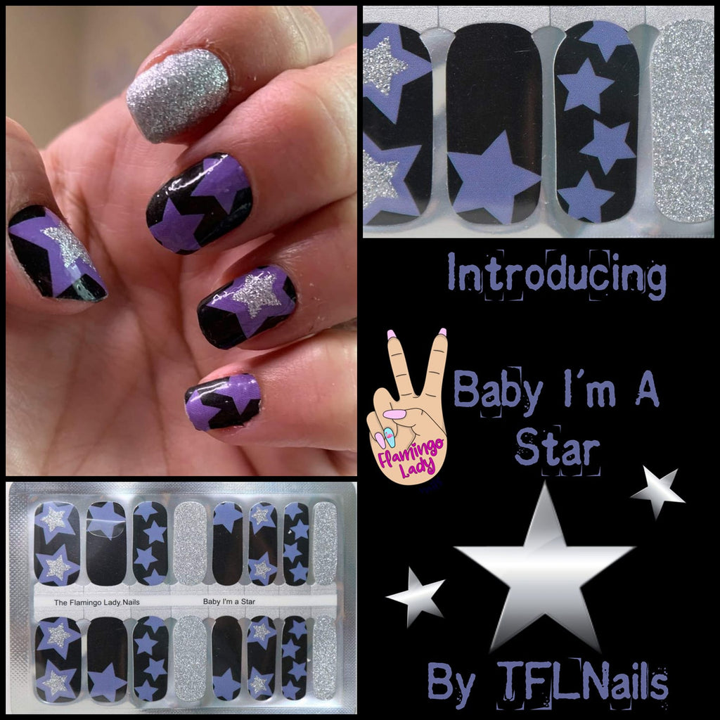 Baby I'm a Star a TFLNails Exclusive - The Flamingo Lady Nails