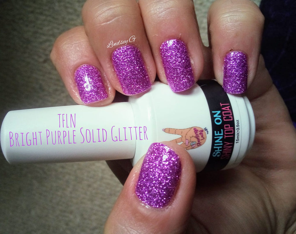 Bright Purple Solid Glitter - The Flamingo Lady Nails