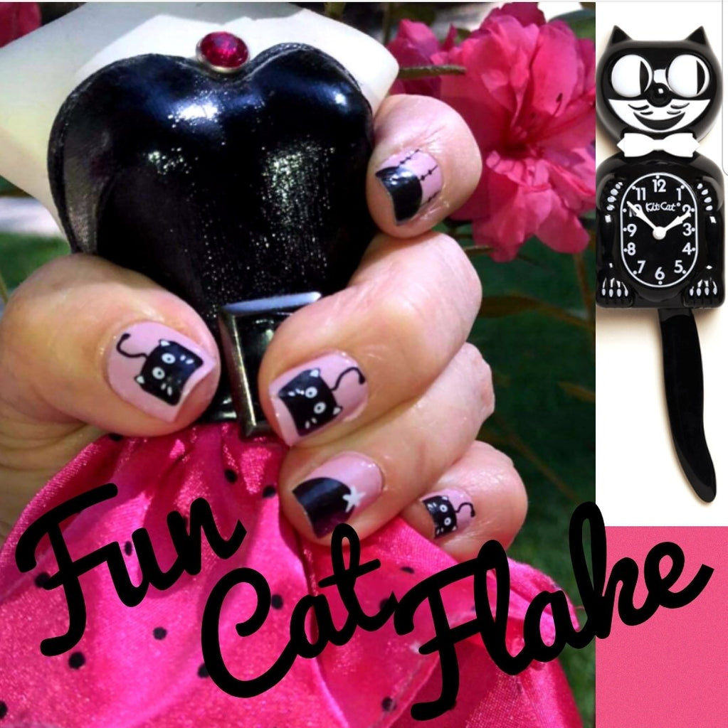 Fun Cat Flake - The Flamingo Lady Nails
