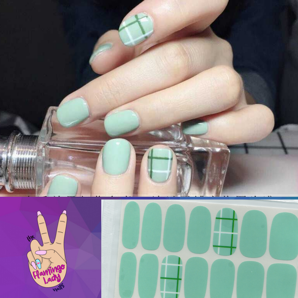 Fun Minty Plaid