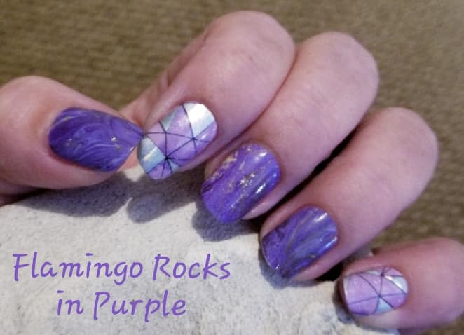 Flamingo Rocks in Purple Exclusively by The Flamingo lady Nails