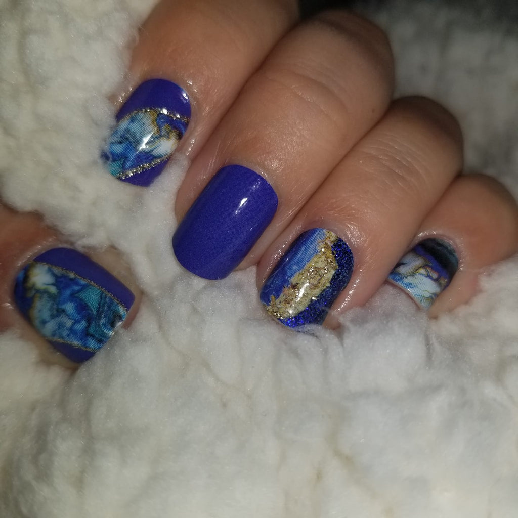 Flamingo Rocks in Blue exclusively for The Flamingo Lady Nails