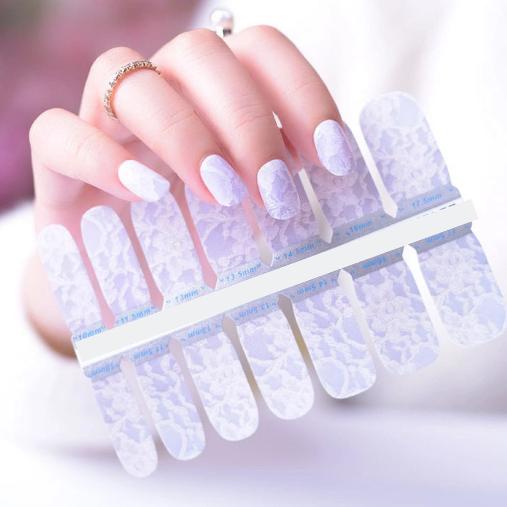 Beautiful White Lace - The Flamingo Lady Nails