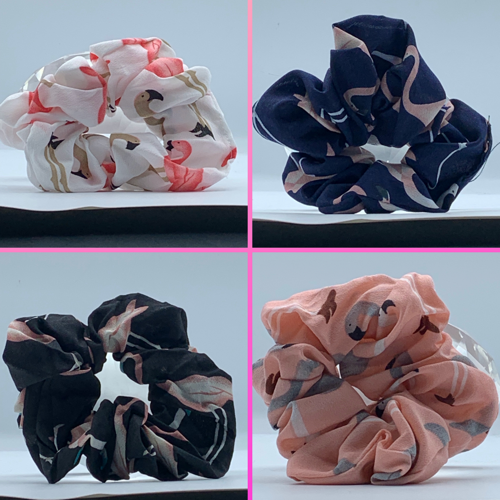 Flamingo Scrunchies