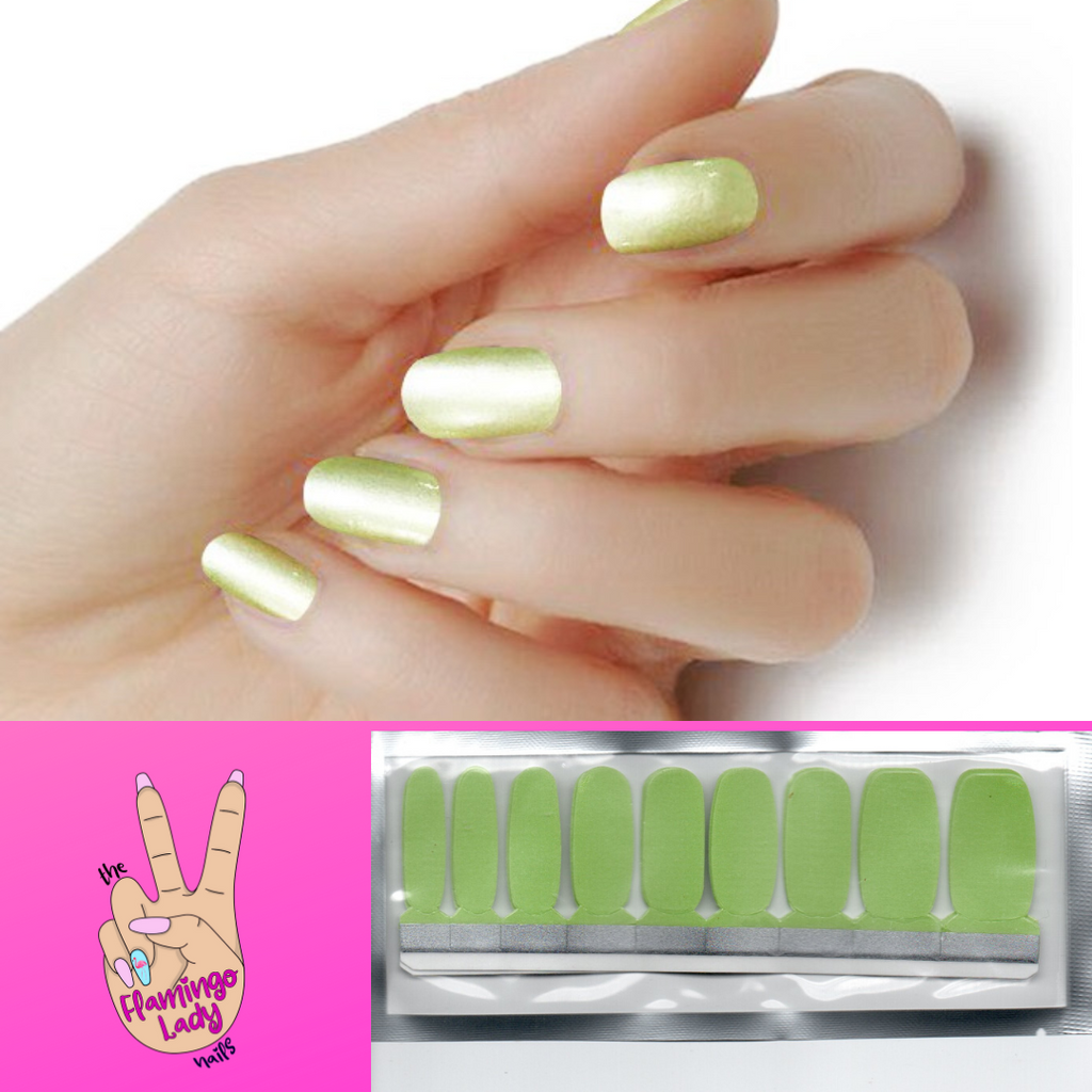 Lux Lime Green Shimmer