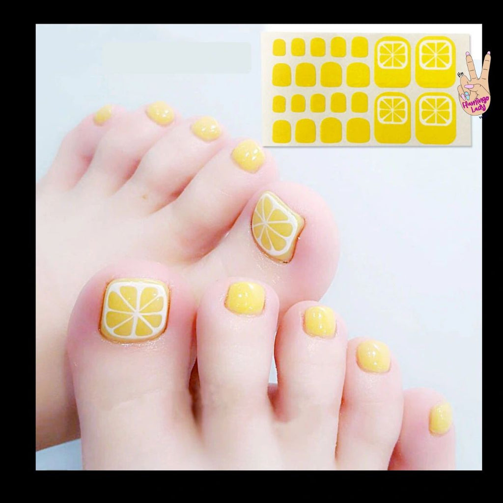 Fun Toes Lemon - The Flamingo Lady Nails