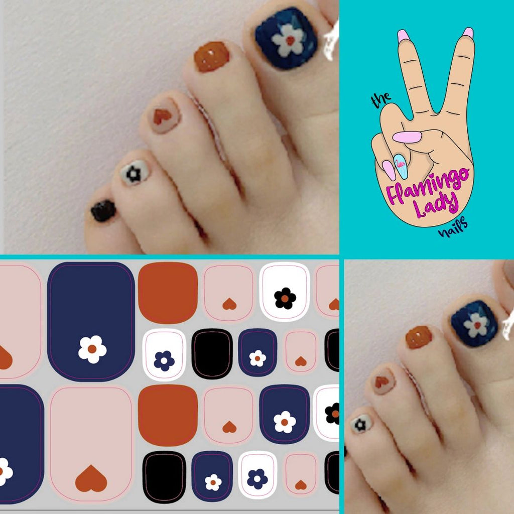 Fun Toe Blooms of Love - The Flamingo Lady Nails