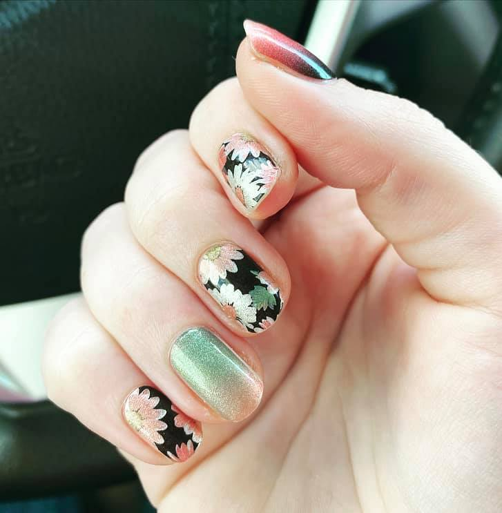 Floral Ombre in Fall