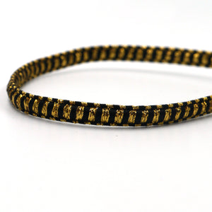 8mm Black and Gold Metallic President Braid 6529