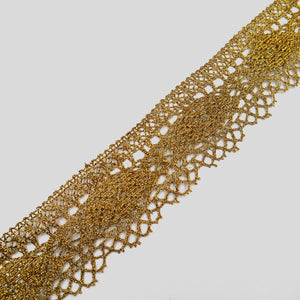 55mm Gold Metallic Lace 6542
