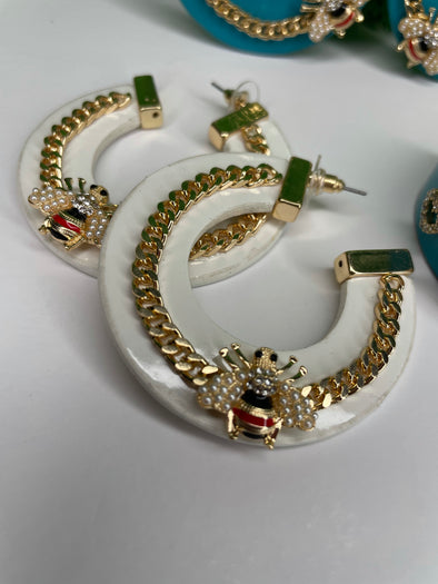 JUCCI EARRINGS WHITE