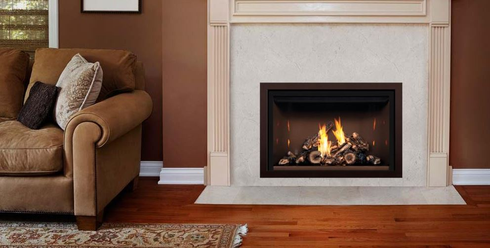 Mendota FV36 Timberline Fullview Gas Fireplace