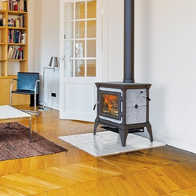 Hearthstone Castleton Wood Stove Majolica Brown