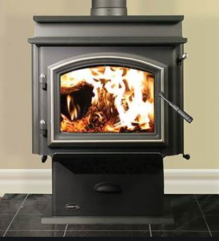 Quadra-Fire 5700 Step Top Wood Stove w/Pedestal