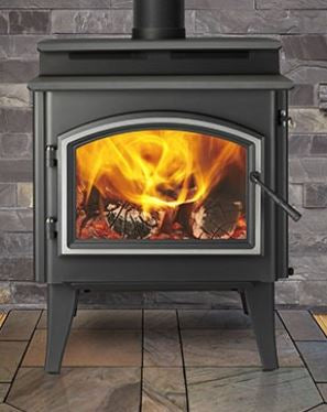 Quadra-Fire 5700 Step Top Wood Stove w/Black Legs