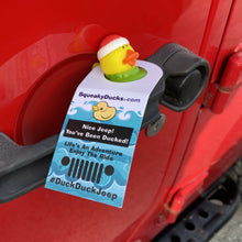 Load image into Gallery viewer, Jeep Rubber Duck Tag DuckDuckJeep