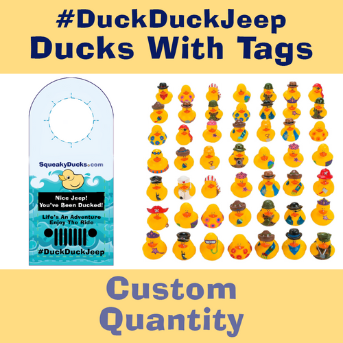 Jeep Ducks with Tags - Select Your Own Quantity