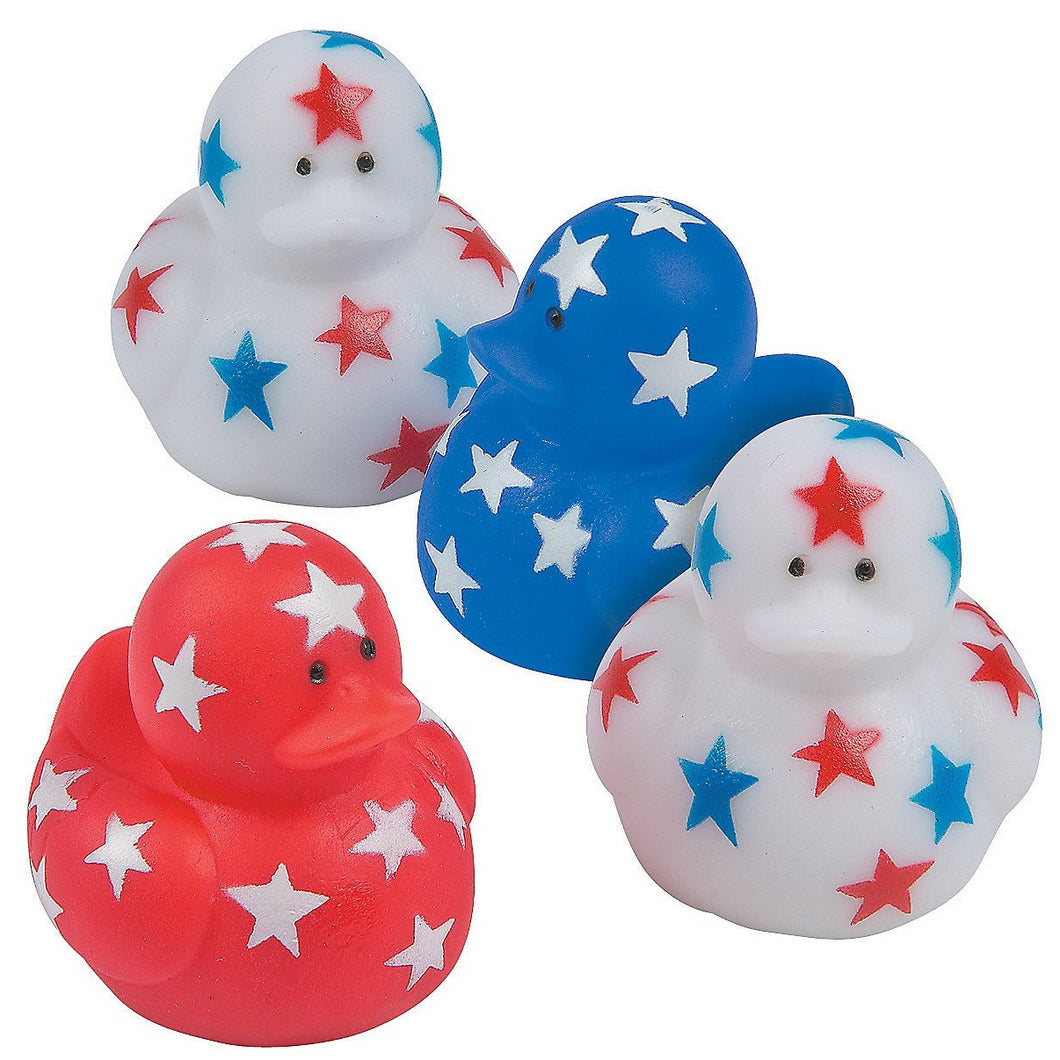 Patriotic Star Mini Rubber Ducks