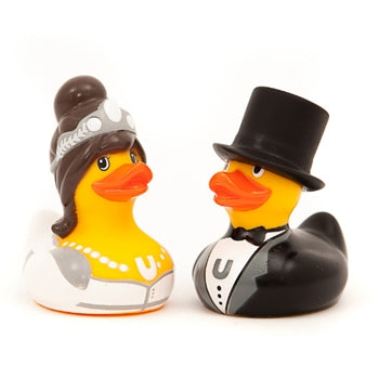 Bride & Groom Ducks by BUD