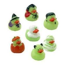 Mini Glow In The Dark Halloween Ducks - 1 1/2