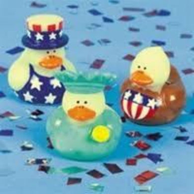Mini Patriotic Ducks - 1 1/2