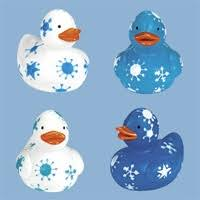 Mini Snowflake Ducks - 1 1/2