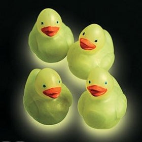 Mini Glow In The Dark Traditional Ducks - 1 1/2