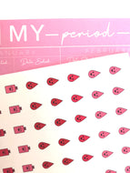Period tracker and stickers