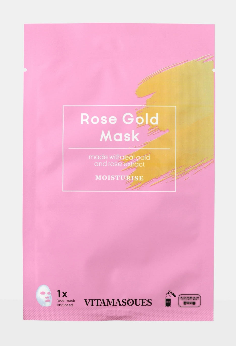 Rose gold face mask