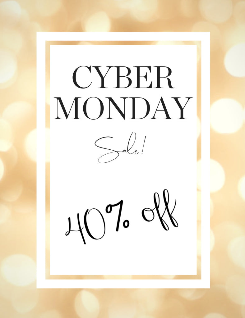 Cyber Monday - 40% Off