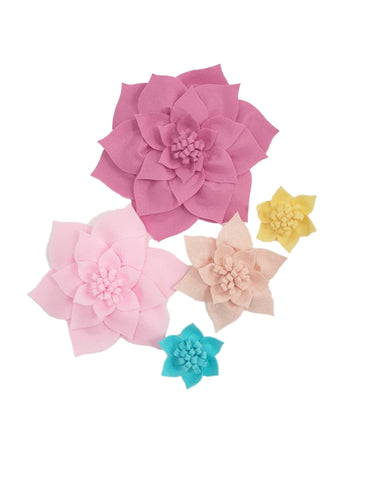 5 piece set (Dahlias)