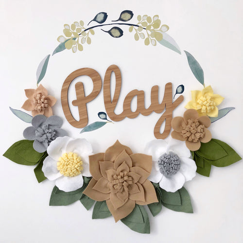 Plaque wreath