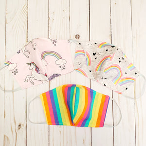 Rainbow & Unicorn Kids size Masks