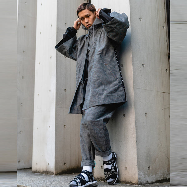 "Ideal Eazy Pant ""herringbone grey"""