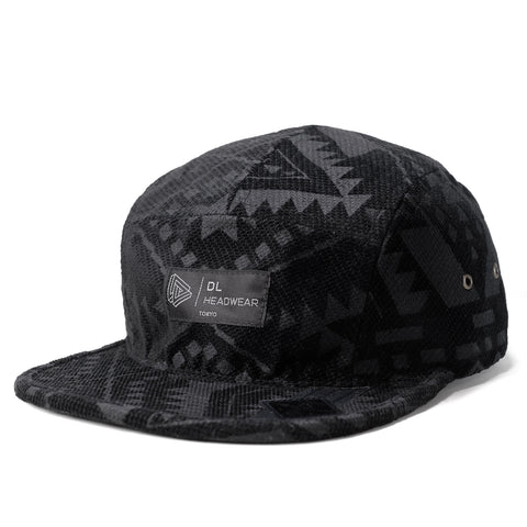 "Omega 5Panel Camp cap ""black aztec"""