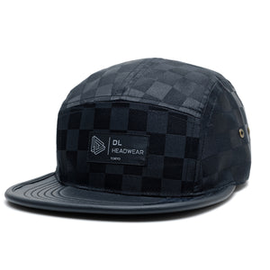 "Omega 5Panel Camp cap ""black checker"""