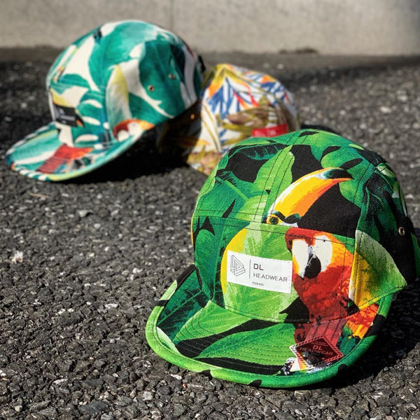 "Omega 5Panel Camp cap ""monstera black"""