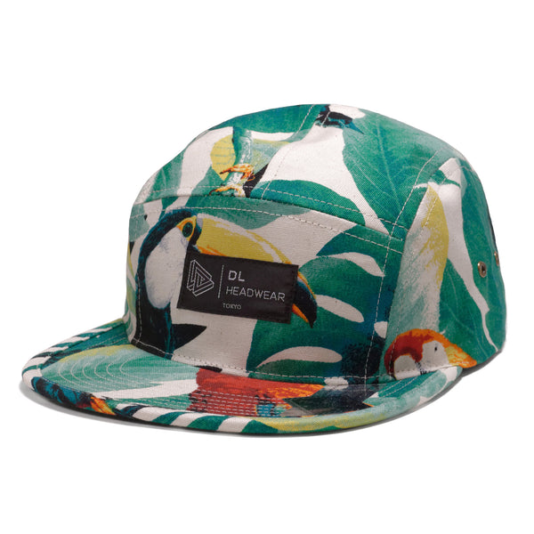 "Omega 5Panel Camp cap ""monstera white"""