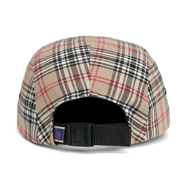 "Omega 5Panel Camp cap ""nova check"""