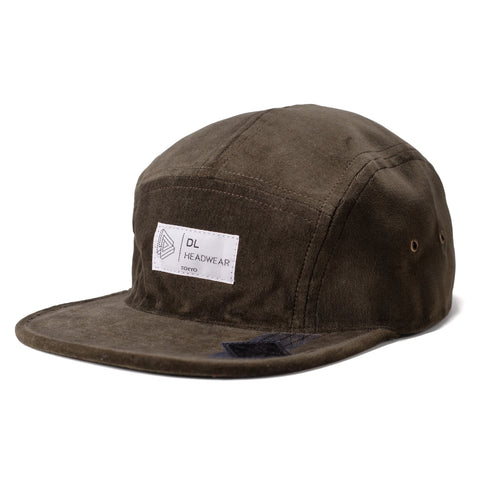 "Omega 5Panel Camp cap ""velour olive"""