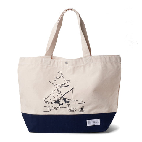 DL x Moomin-Fishing Canvas Tote Bag