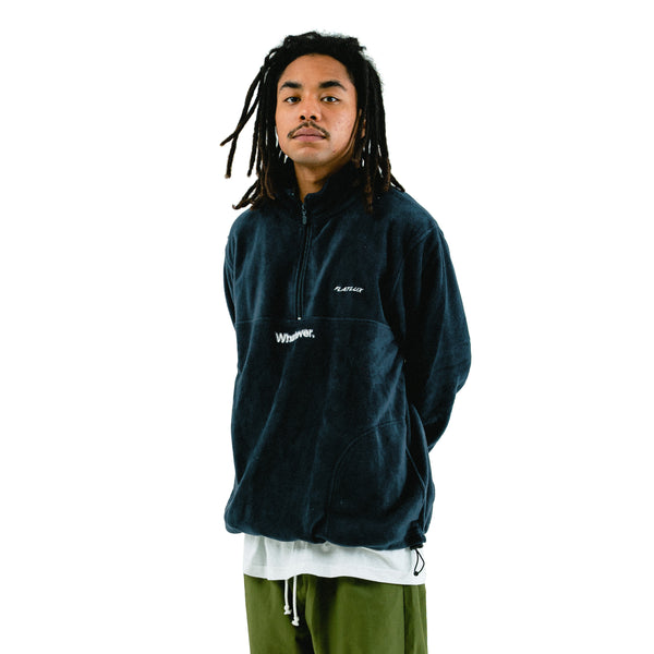 Blues Fleece Mockneck